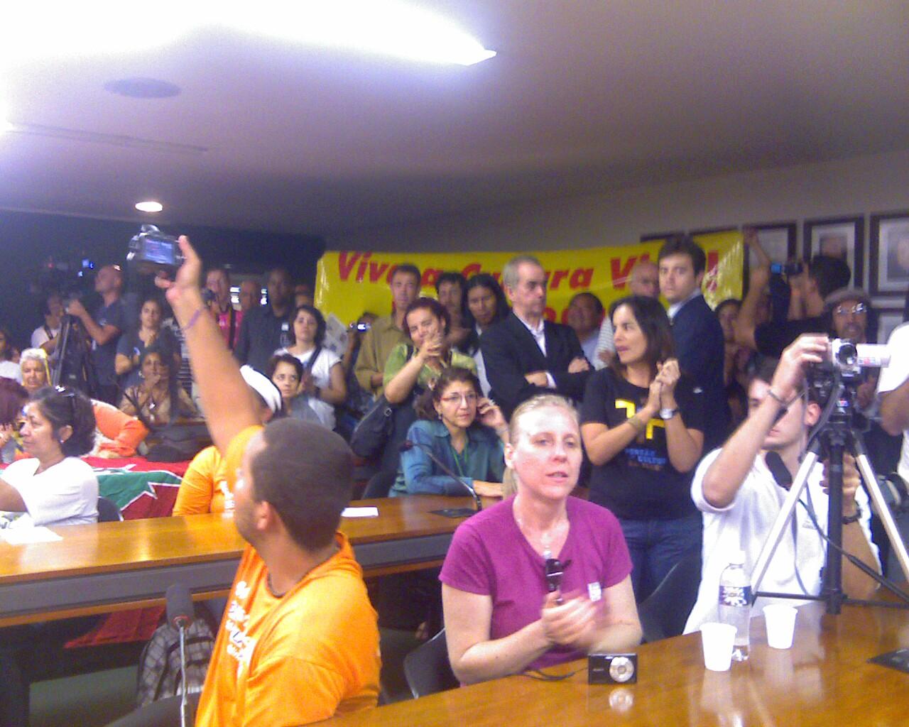 #pontosdecultura cantam para a Ministra