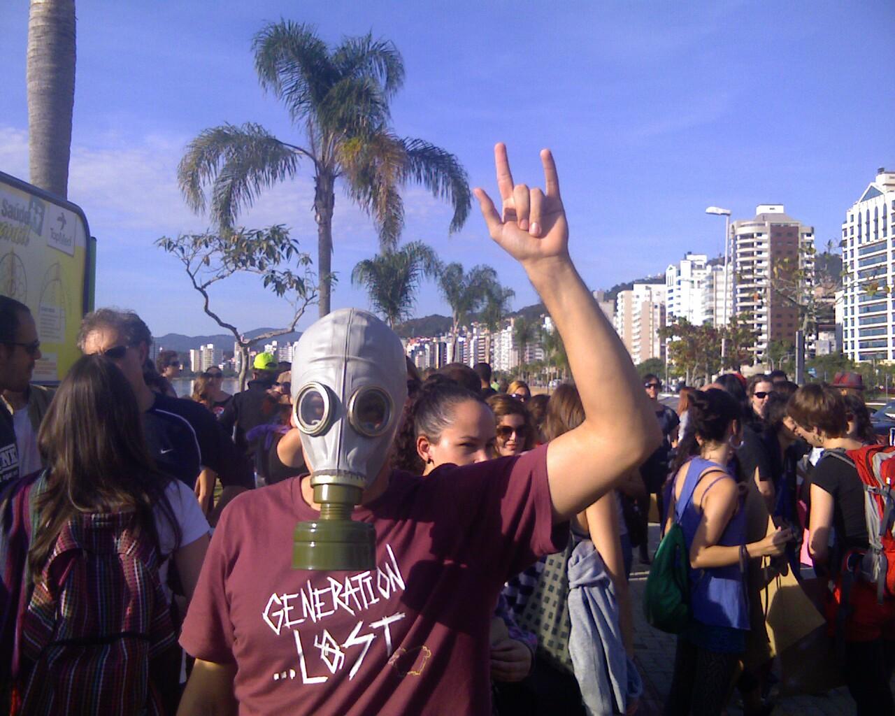 #PareBeloMnte na #MarchadaLiberdade em #Floripa