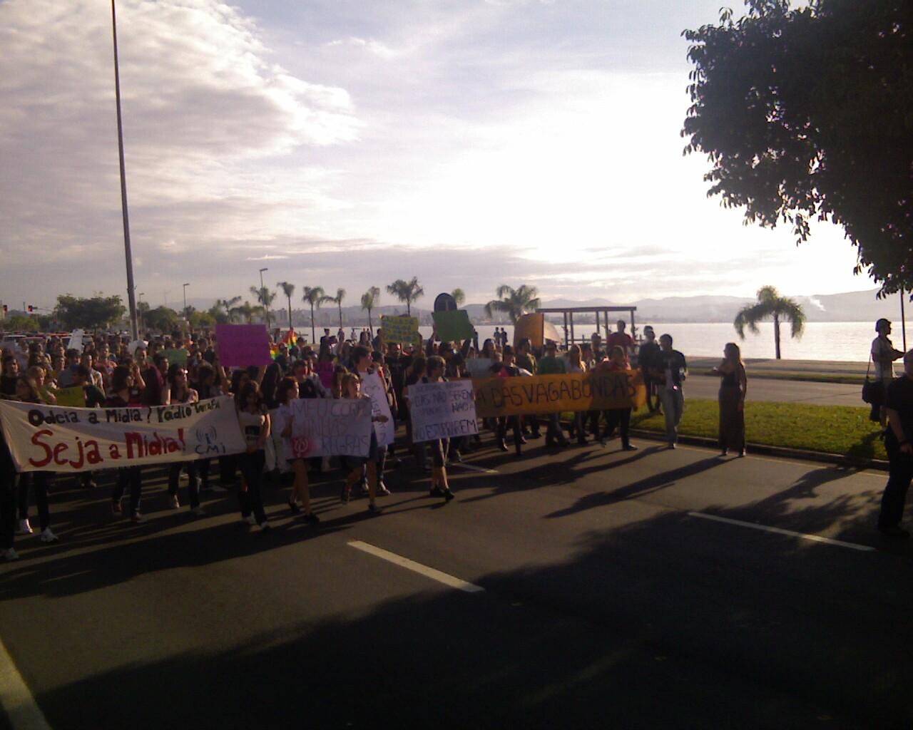 #MarchadaLiberdade em #Floripa no shopping beiramar