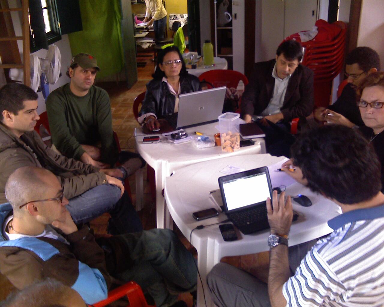 Encontro dos #pontosdecultura sobre a @TeiaSul no @baiacudealguem