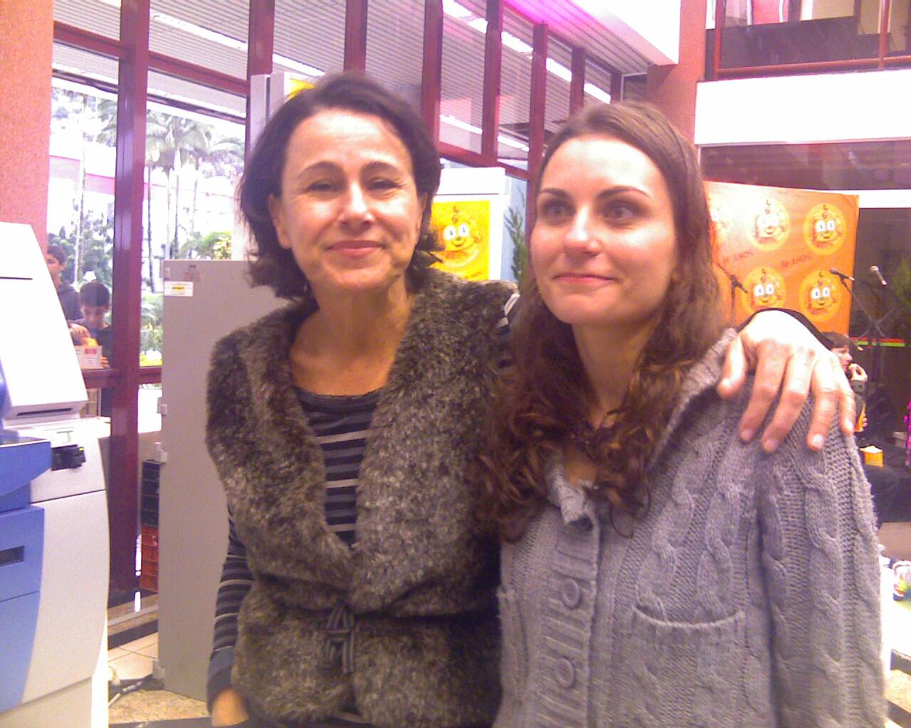 Luiza Lins e Melina Curi na @cineinfantil