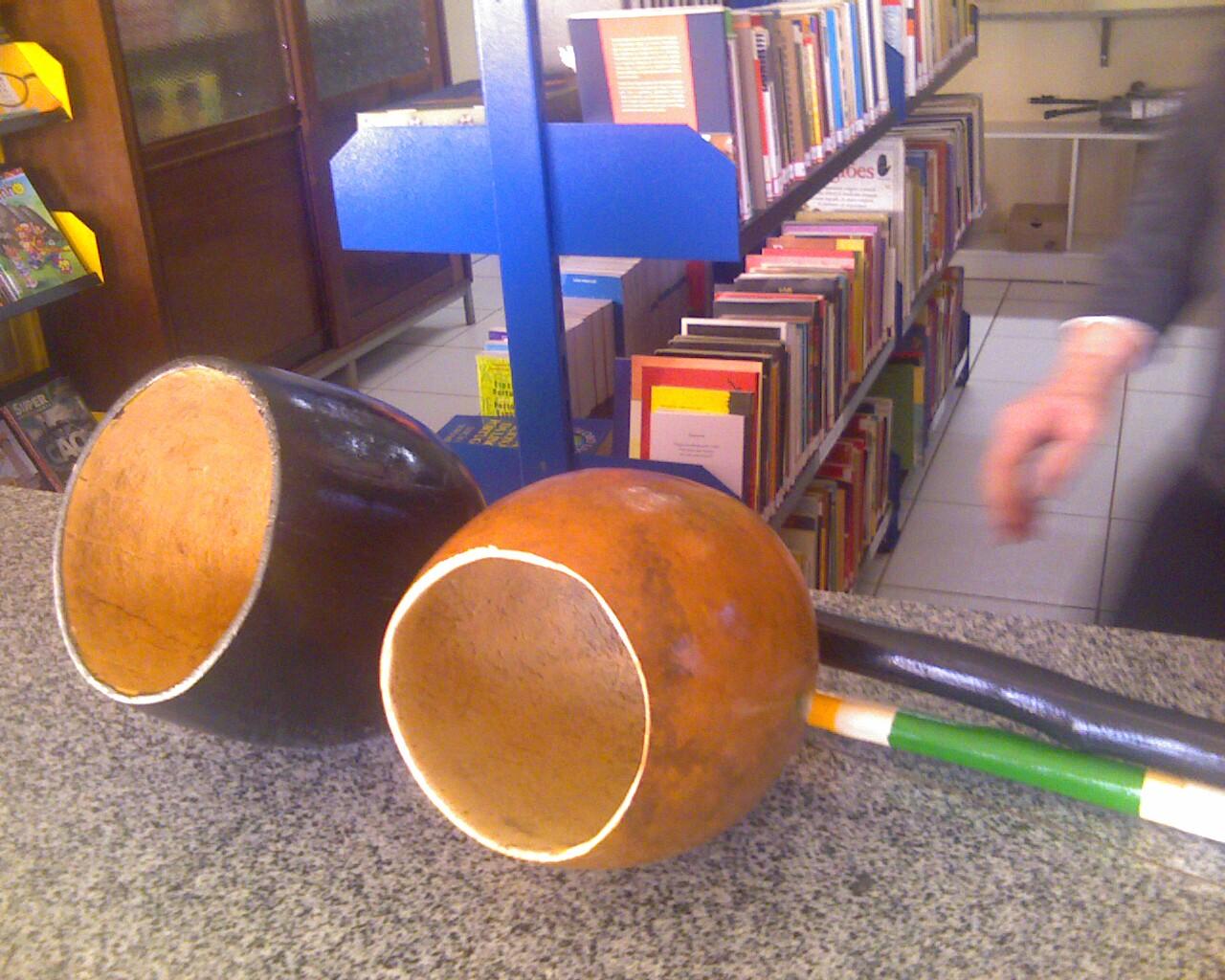 o berimbau e a biblioteca em #xanxere @pontossc #culturaviva
