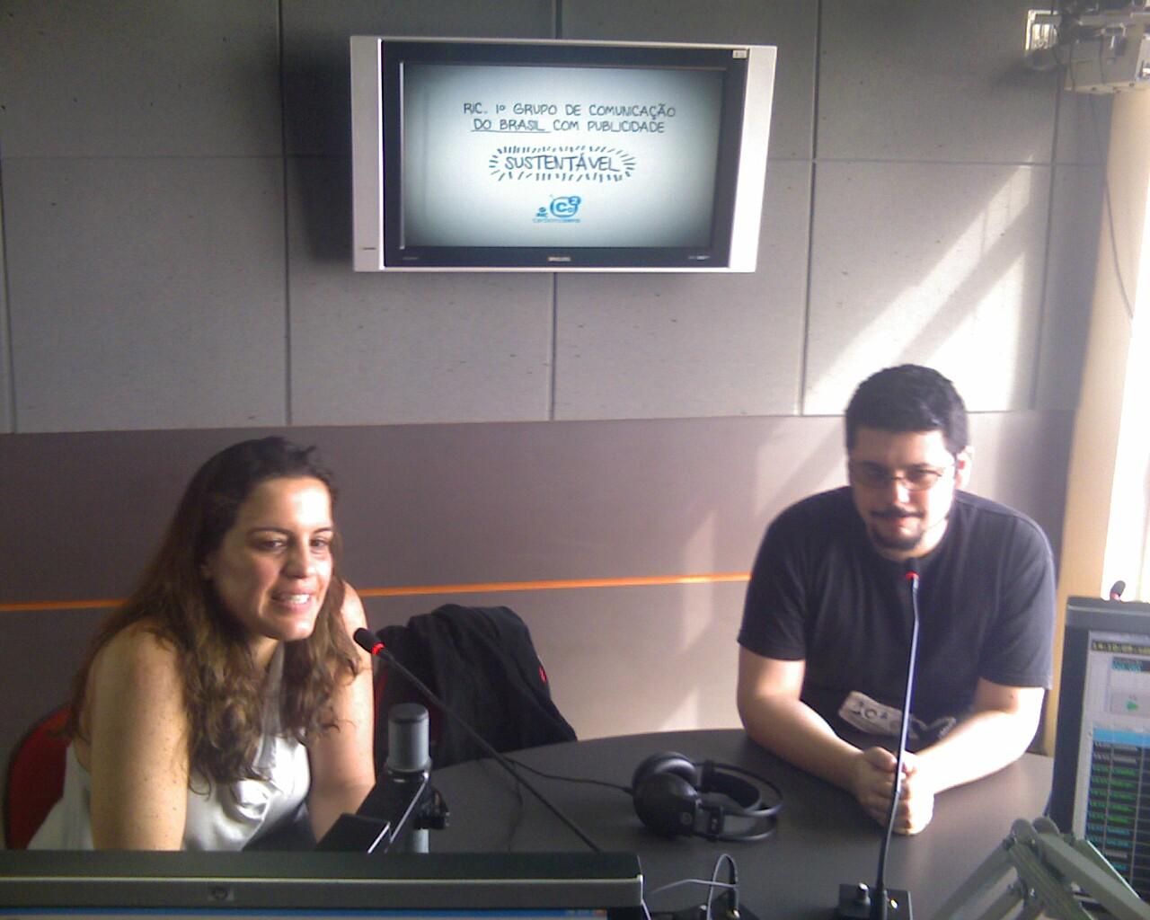 Falando #aovivo sobre o @catavideo ma Rádio Record www.ndonline.com.br