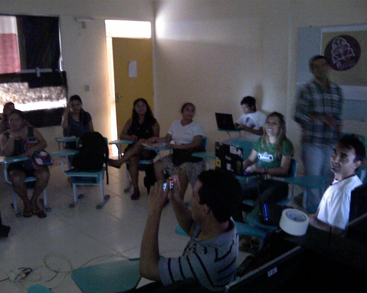 Oficina com blogueiros