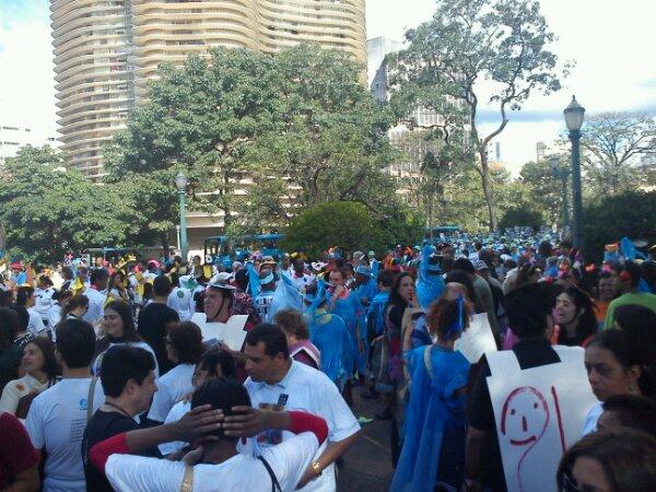 Praça da Liberdade lotada para o #18tão