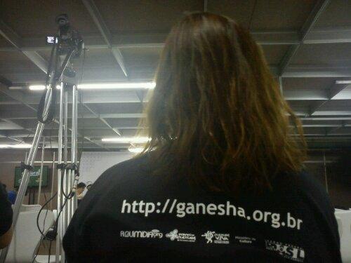 A equipe do Pontão Ganesha mal desembarcou na Rio+20 e já cobrindo e participando do evento