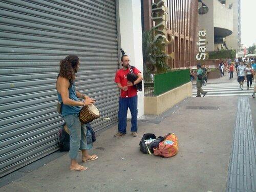 Gaita de fole na Paulista