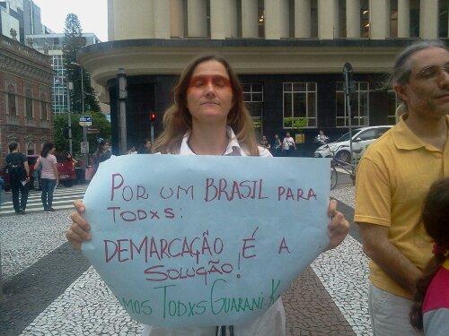 Mensagens dos manifestantes de #Floripa #SouGuaraniKaiowa