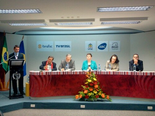 Lançamento das transmissões digitais da TV UFSC (parceria TV Brasil/EBC)