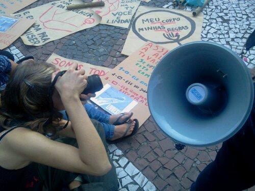 Elas são o movimento. Elas são a mídia. #MarchadasVadias #Floripa #MídiaLivre